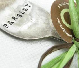 Hand Stamped Vintage Spoon Garden Marker